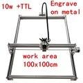 15 Вт мини настольный DIY лазерный гравировальный станок для резки, маркировка на металле 100*100 см, лазерный резак big worke, 10 Вт, 15 Вт