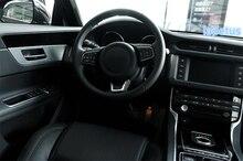 Lapetus Steering Wheel U Strip Decoration Frame Cover Trim 1 Pcs Fit For Jaguar XE 2016 2017 2018 2019 Matte / Carbon Fiber ABS lapetus steering wheel frame cover trim 2 pcs fit for hyundai kona 2018 2019 matte carbon fiber abs accessories interior