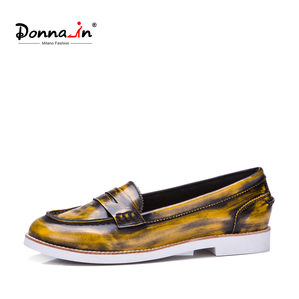 Donna-in 2018 Women Moccasin Genuine Leather Flats Fashion Classical Loafers Casual Shoes Comfortable Ladies Shoes for Spring donna in 2017 spring new women platform casual shoes suede leather wedges comfortable ladies flats