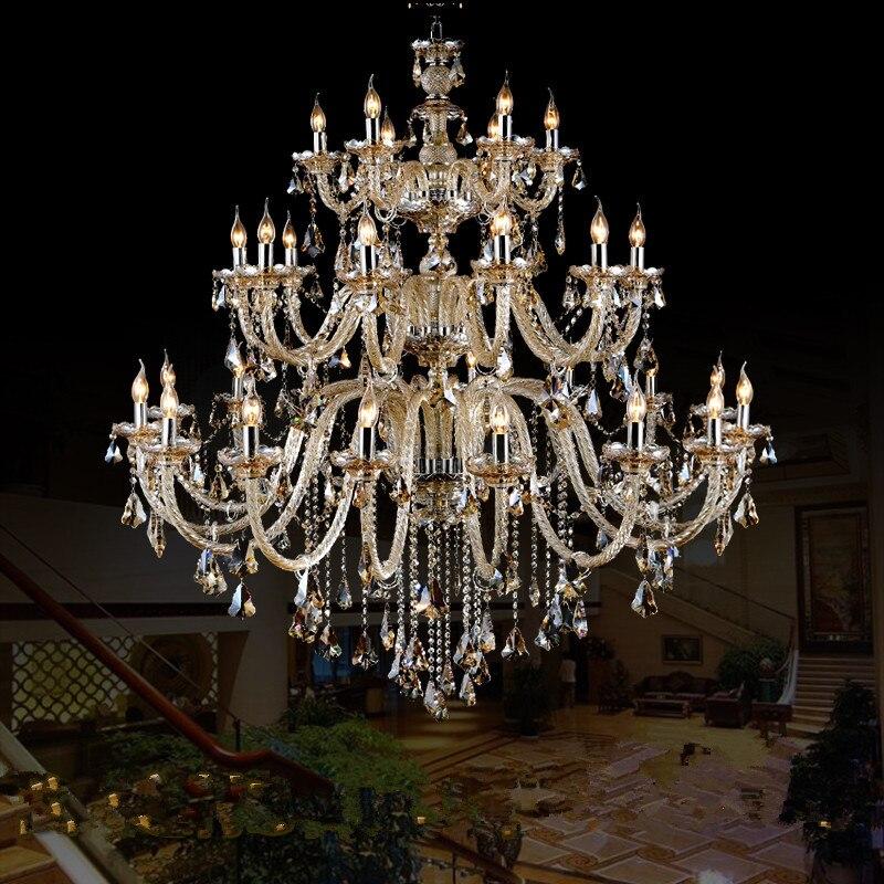 Bohemian 32-42 stk Cognac lysekrone krystalbelysning til kirke - Indendørs belysning - Foto 3