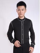 The new men 's Latin dance clothes modern dance clothing national standard shirt collar shirt 0790