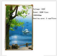 carbon crystal heating panel Electric Wall Mountable Home Space Heaters Wall Picture Electric Heater