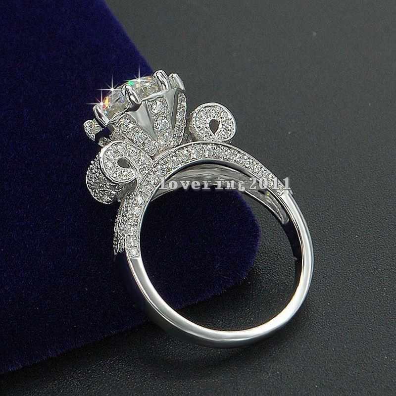 Luxe tour Eiffel femmes hommes bijoux bague 9mm AAAAA Zircon Cz 925 en argent Sterling fiançailles bague de mariage anneaux pour les femmes cadeau