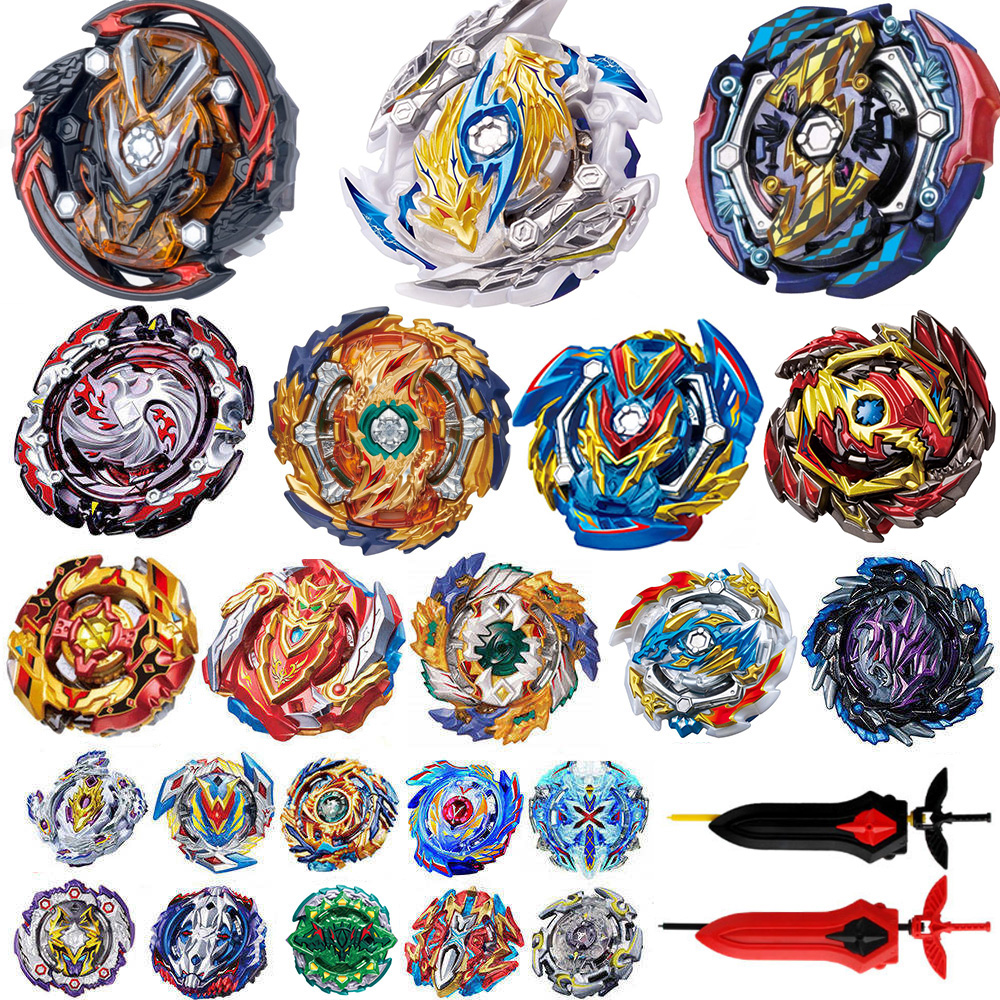 Latest model Launchers <font><b>Beyblade</b></font> GT <font><b>Burst</b></font> Toy <font><b>B</b></font>-<font><b>144</b></font> <font><b>b</b></font>-145 Blade Blades Metal Bayblade Bables Top bey blade for Kids image