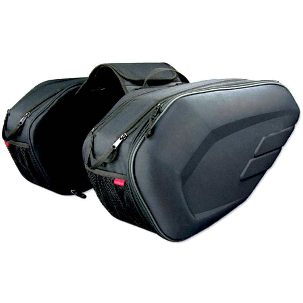 Motorcycle Saddle bag Saddlebags luggage Suitcase Motor Rear Seat Bags Luggage Saddle Bags with Rain Waterproof Cover 36-58L цена