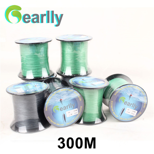 Gearlly Brand Super Strong Japan 300m Multifilament PE Braided Fishing Line 10 15 20 30 40LB