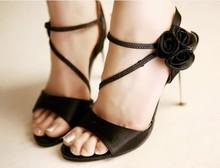Мода Сладкая принцесса Цветок вечерние туфли обувь доказательство воды цветок невесты обувь Лето Весна Сандалии
