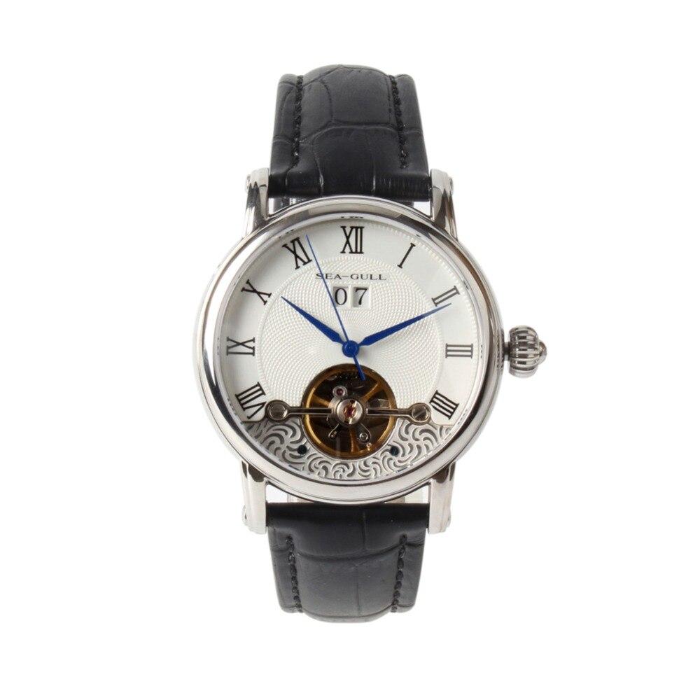 Seagull Grande Date Flywheel Self wind Skeleton Roman Numerals Automatic Mechanical Men s Watch 819 382