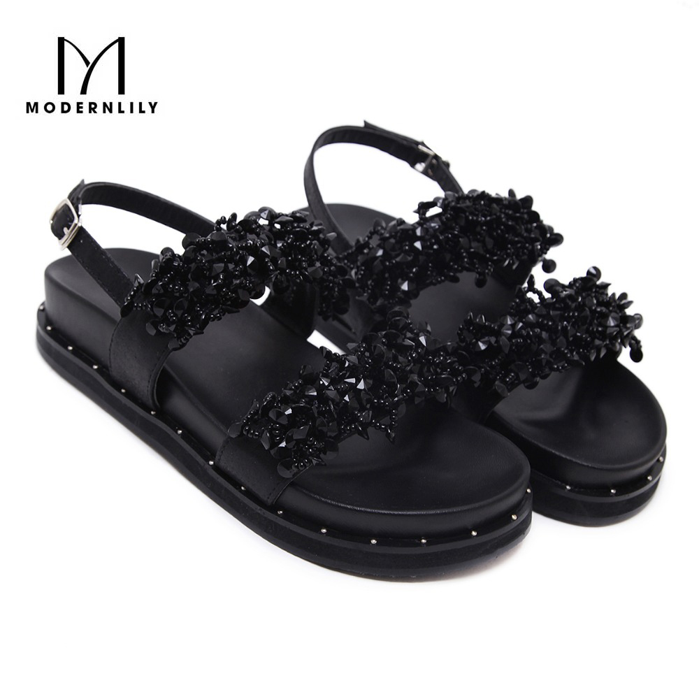 Black sandals bling - Summer Shoes Women S With Flats Soles Sandals Bling Bling Shoes Women Zapatos Mujer Chaussure Femme Scarpe