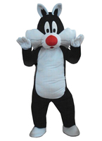 Black cat mascot costume adult animal cartoon character black cat for EMS free shipping