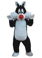 Czarny kot maskotki kostium dorosłych zwierząt cartoon character czarny kot dla EMS darmowa wysyłka