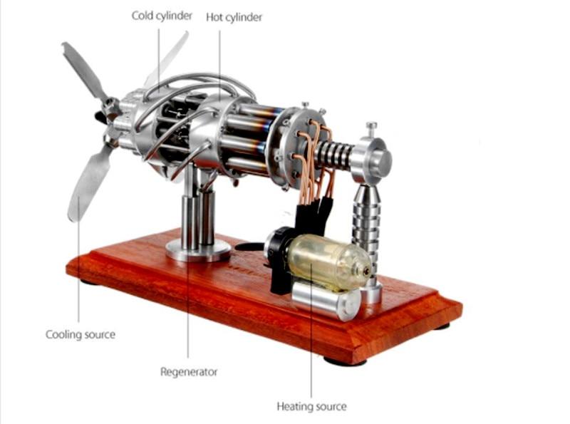 LBLA 16 Cylinder Hot Air Stirling Engine Motor Model Motor Engine Toy Engine NEW Hot Air Swash Plate Toys Kids Educational hot air stirling engine model educational engine motor toy experimental model