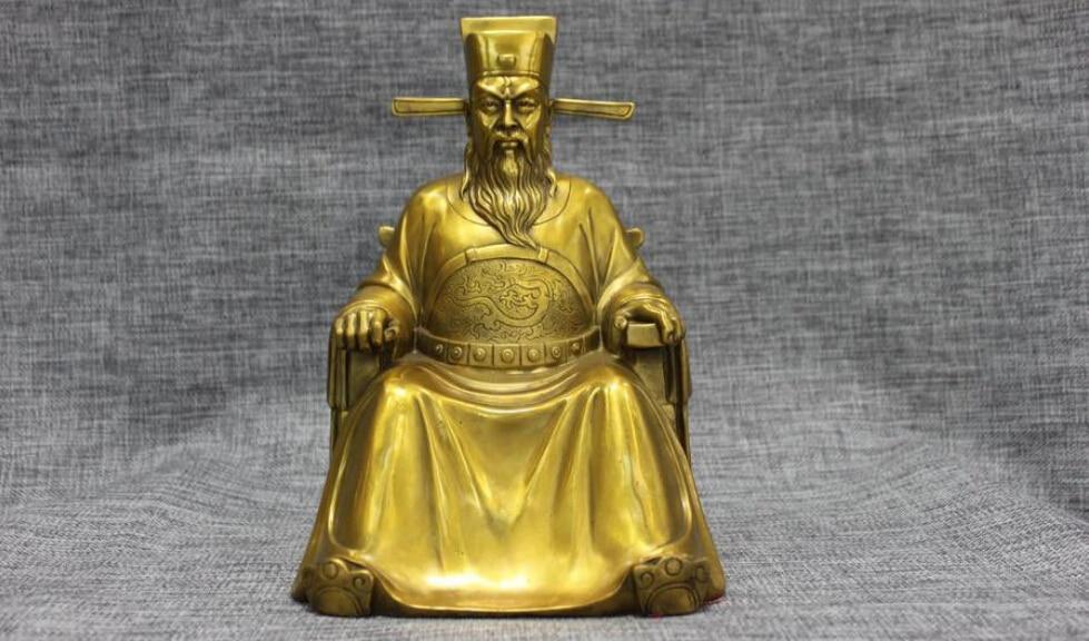 Chinese pure brass god of wealth Buddha statue