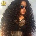 8А Перуанский Девы Волос Свободные Глубокая Волна 3 Связки Fashow Волосы Перуанский более волнистые Прически Перуанской Девы Волос Красота Плюс волос