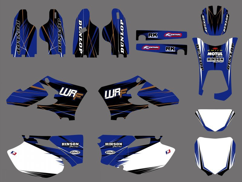 0497 NEW TEAM GRAPHICS BACKGROUNDS DECALS FOR Yamaha WR250F WR450F ...