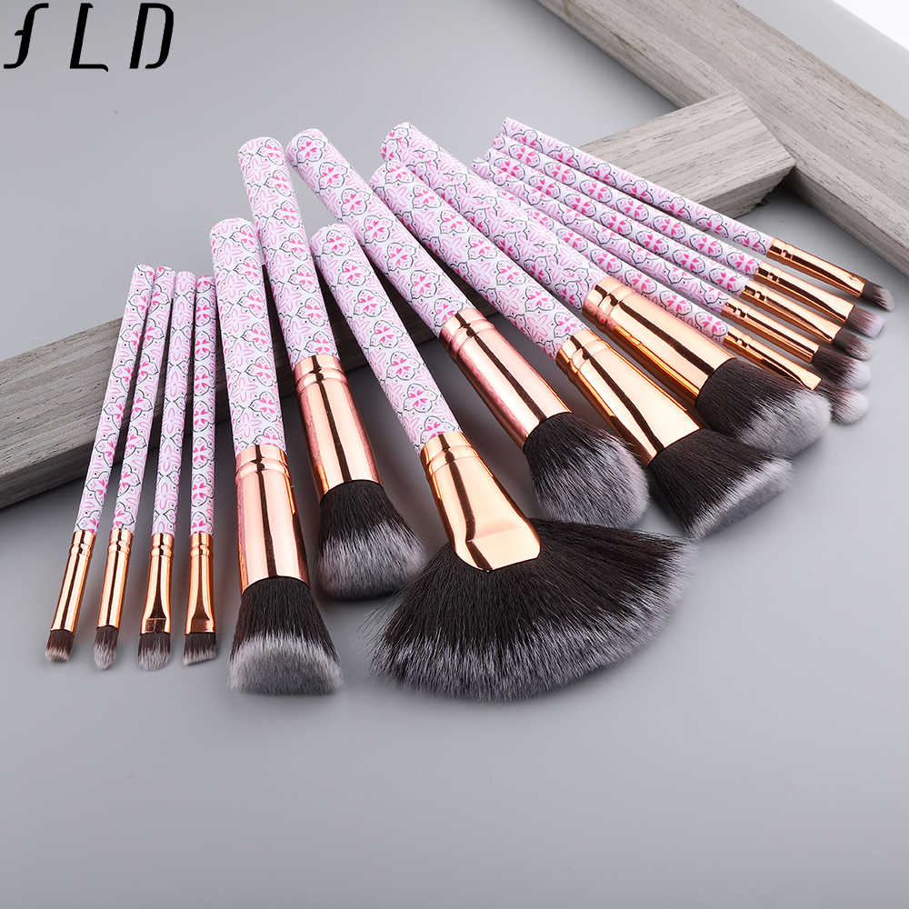 Field Profesional Makeup Brushes Blush Bubuk Mata Kuas Eyeliner Set Bohemia Fan Kuas Wajah