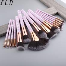 FLD professional makeup brushes Blush powder eye shadow eyeliner Brush set bohemia fan face