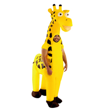 Purim Cute  Inflatable Giraffe Costumes Adult Cosplay Suits Animal Fancy Dress Halloween Carnival Party Airblown Costume Outfits