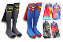 DC Superman Batman The Flash Wonder Woman knee high long Socks summer style cotton weed socks party cosplay