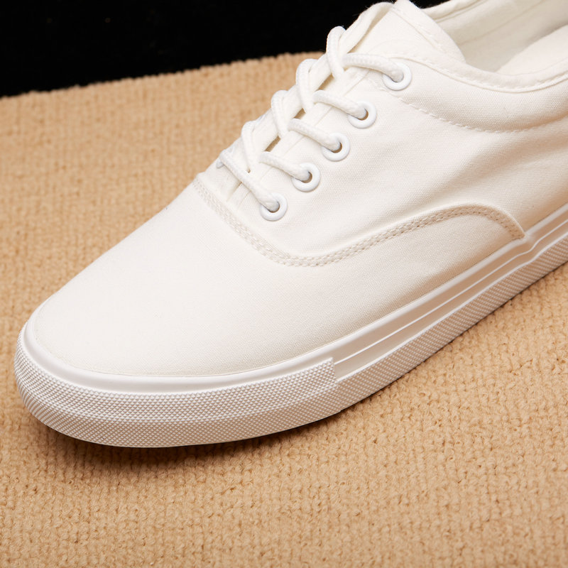 Basket Femme 2019 Fashion Mens White Sneakers Casual Shoes Man Flats Breathable Shoes Vulcanized Outdoor Mens Canvas Shoes in Men 39 s Casual Shoes from Shoes