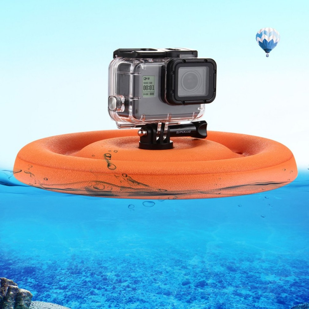 PULUZ Frisbee Floating Mount for GoPro HERO5/4/3 Action Camera Floaty Float Buoyancy Waterproof Flying Disc for Pets Dog Fetch