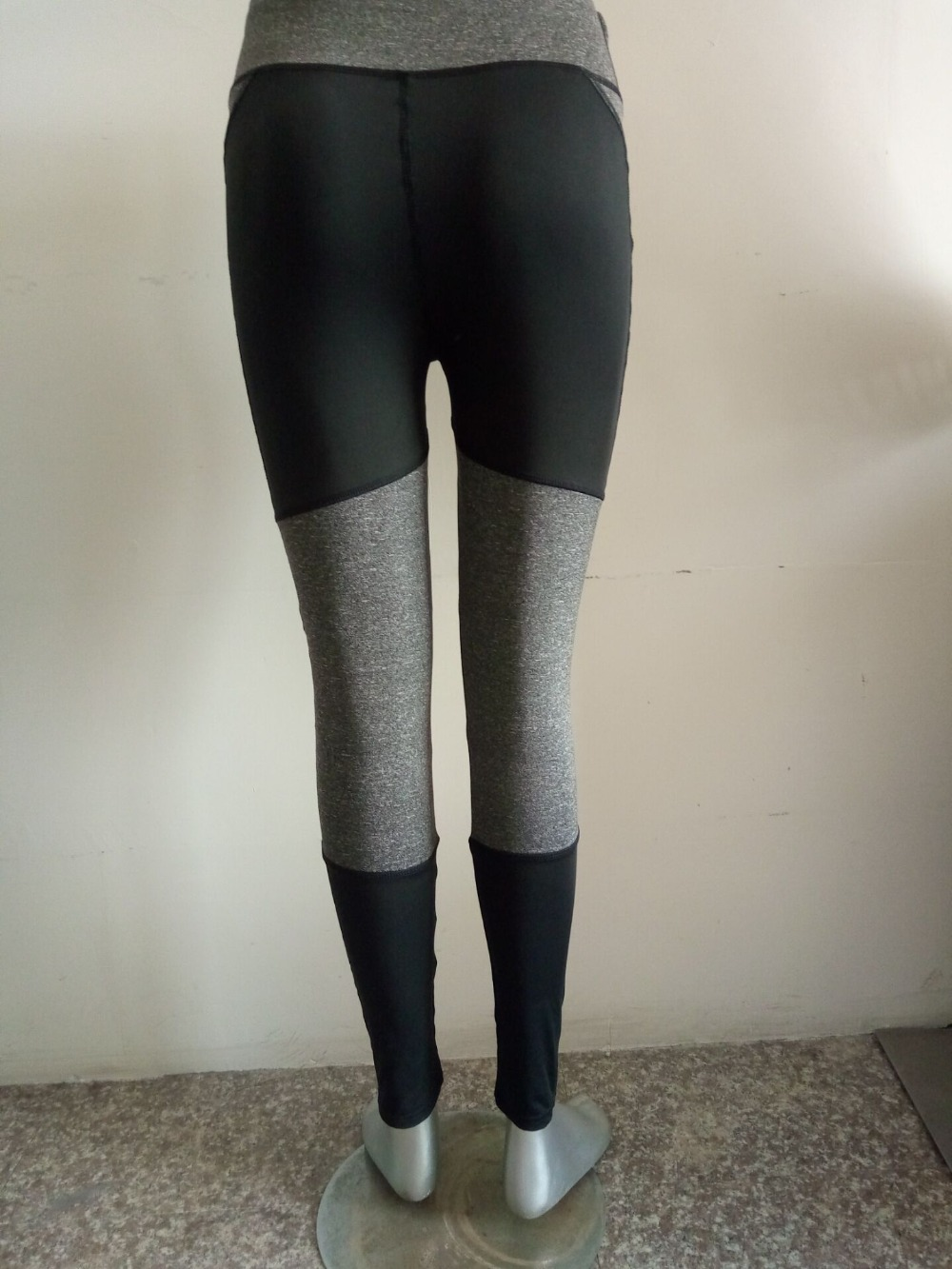 Kvinnor Fitness Leggings Svart Casual Leggins Workout Byxor Mesh - Damkläder - Foto 6