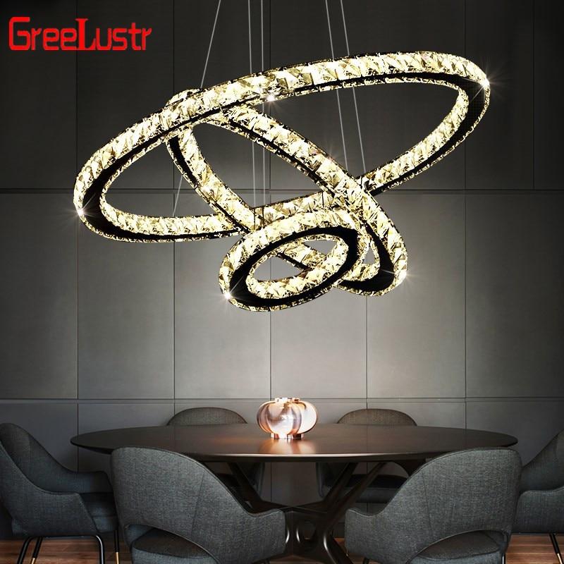 Us 131 6 Modern Crystal Led Pendant Chandelier Lamp Luxury Diamond Hanging Mirror Stainless Steel Lighting Fixture Luminaire In Lights