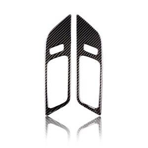 Image 2 - 2 шт. Автомобильная панель для межкомнатной двери из углеродного волокна, крышка для двери, наклейка, Накладка для Ford Mustang 2015 2016 2017