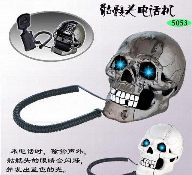 Best Christmas Gifts Novelty Skull Shape Telephone set Household ...