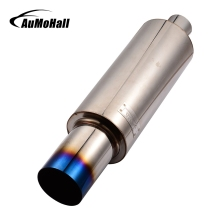 AuMoHall 53*10*7CM Car Universal Vertical Pipe Stainless Steel Exhaust Pipe Modification Racing Exhaust Pipe Car Styling