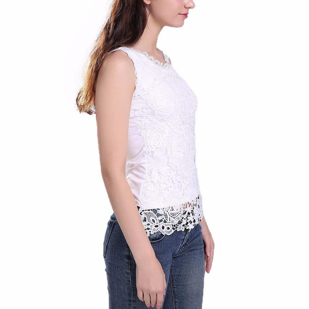 HTB1YSEoNFXXXXXkapXXq6xXFXXXM - New Women Lace Vintage Sleeveless Blouse Casual Shirts