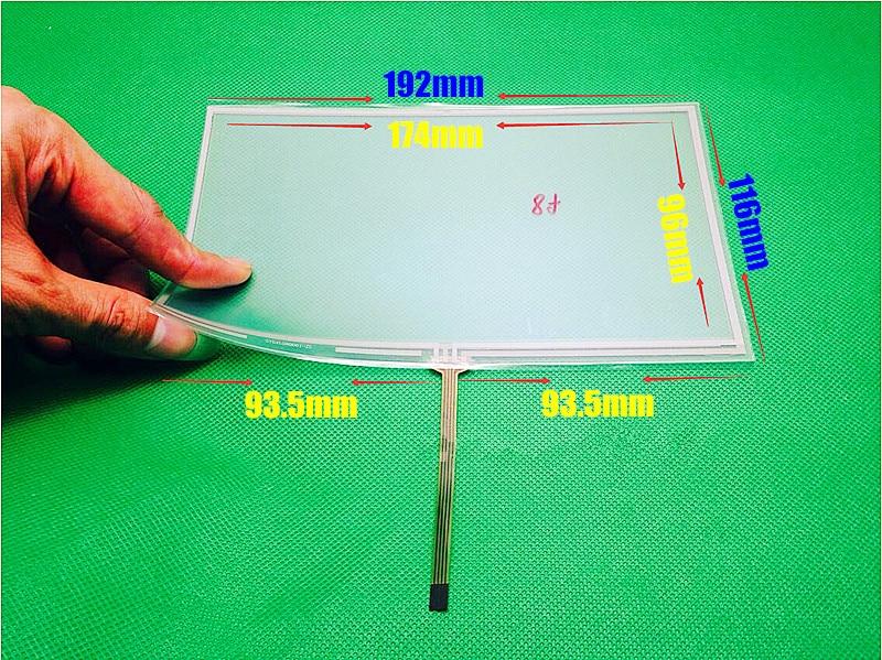 New 8 inch 192*116mm 4 wire Resistive Touch screen 192mm*116mm digitizer panels CAR GPS Navigation настенная плитка ava lyra charta satinato camila 25x75
