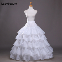 2017 New 5 Layers Wedding Bridal Petticoat Underskirt Crinolines For Ball Gown Wedding Dresses Accessories Hot