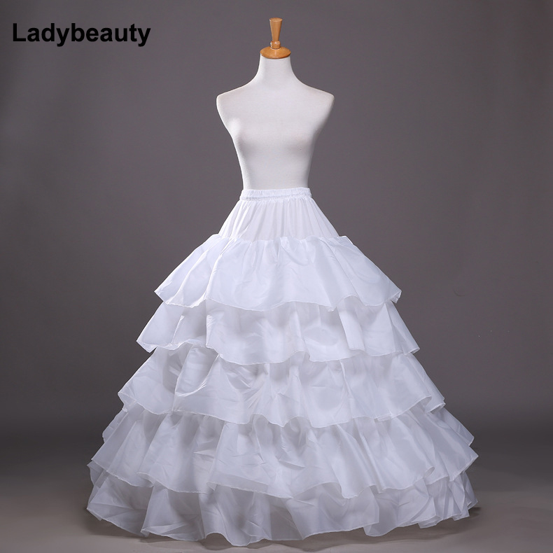2017 New 5 Layers Wedding Bridal Petticoat Underskirt Crinolines For Ball Gown Wedding Dresses Accessories Hot Selling