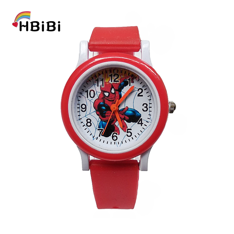 New Listing ! Fashion Casual Spiderman Children Watch Kids Watches For Girls Boys Student Clock Waterproof Quartz Wristwatches