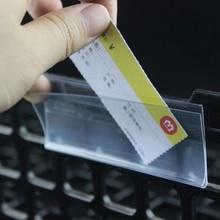 Self-adhesive Data Strip Label Holder Shelf Edge Display Price Tag  Scanner Rail Name Card Sign Display Frame Pop Price Talker