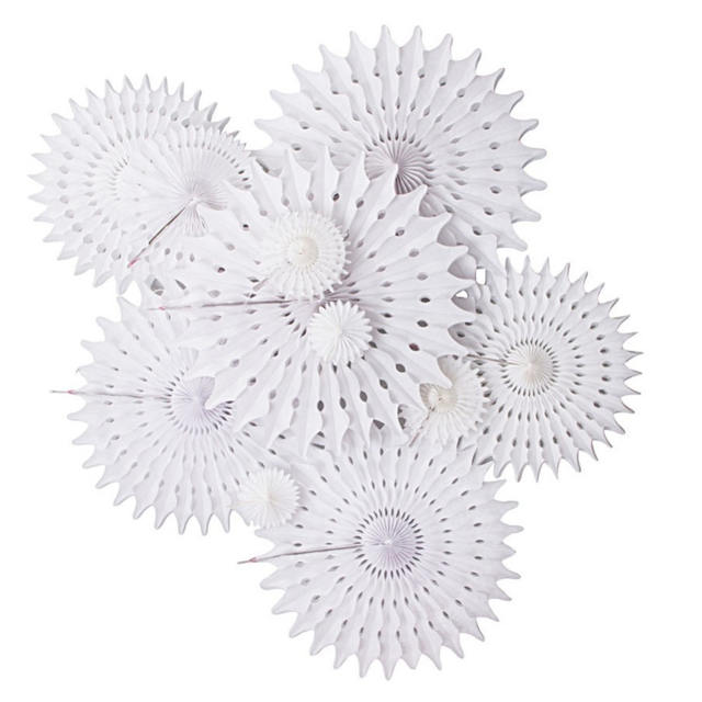 White Paper Fan for Party Decoration