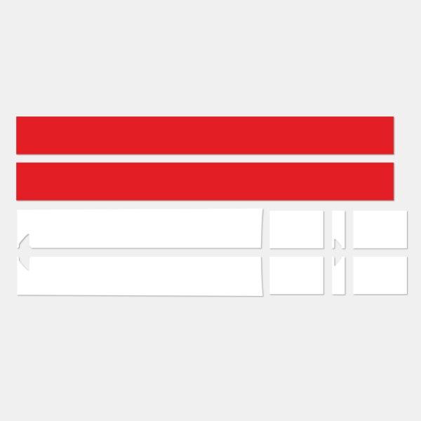 Автомобильный капот на крышу, задние полосы, наклейка на тело для Mini Cooper Coupe r56 r57 r58 r59 John Cooper Works JCW Roadster Cabrio - Название цвета: white and red