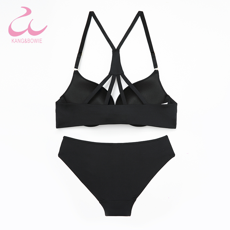 840da7f5da Kang Bowie Push Up Women s Bra Sets Kit Front Magnet Clasp Seamless Underwear  Panties Set Solid Ladies Fancy V Bras 36 38BC Sets-in Bra   Brief Sets from  ...