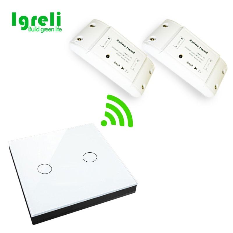 Accueil sans fil unique commutateur de commande à distance 250 v récepteur module LED plafond lampe peut passer à travers le mur