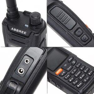 Image 3 - AR F6 ABBREE 6 أربطة شاشة عرض مزدوجة الاستعداد 999CH متعدد الوظائف VOX DTMF SOS شاشة LCD ملونة جهاز الاتصال اللاسلكي