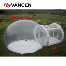 Waterproof 0.8mm PVC igloo inflatable clear tent factory direct sale inflatable transparent bubble tent camping tents for sale цена в Москве и Питере