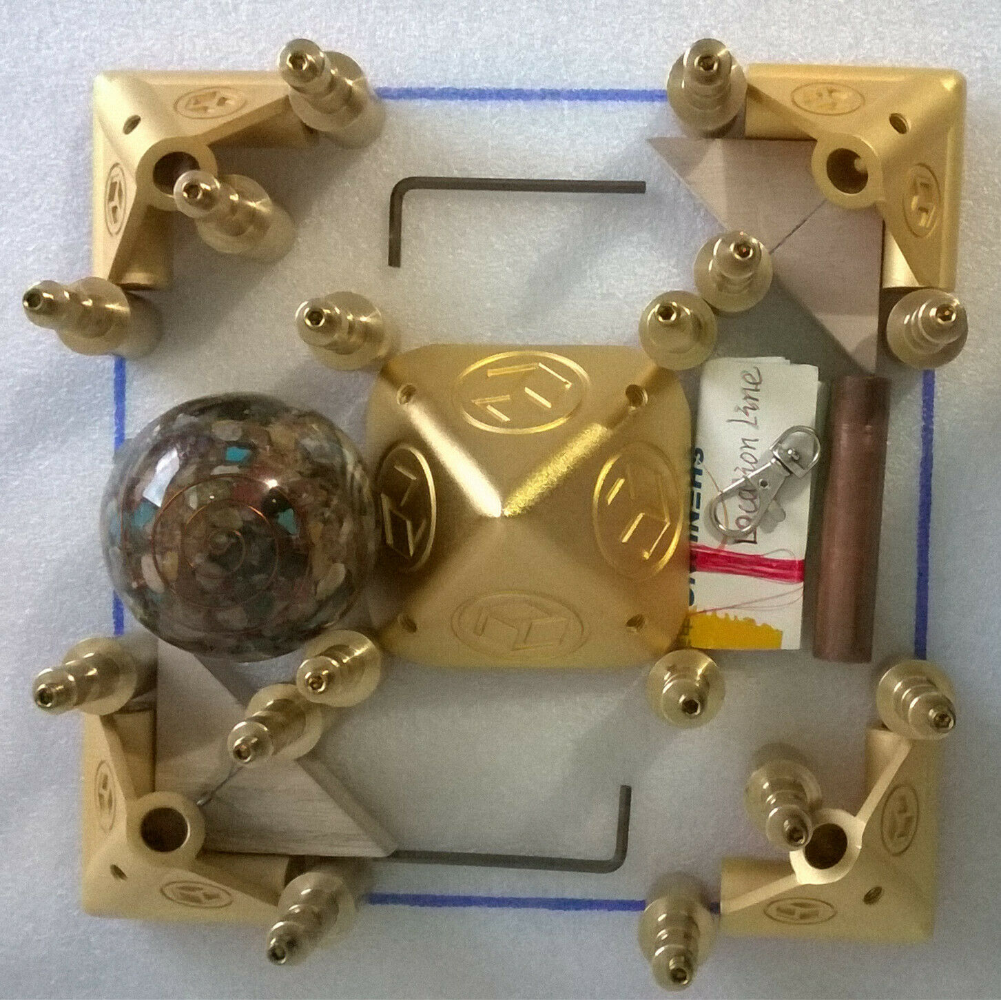 "energy Giza Meditation Meditation Pyramid Kit Cosmic energy receiver Suitable for 3/4"" copper tubes With energy ball .PGTB-19."