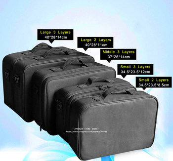 Female High Quality Professional Makeup Organizer Bolso Mujer Good Cosmetic Bag Large Capacity Storage case Multilayer Suitcases 2