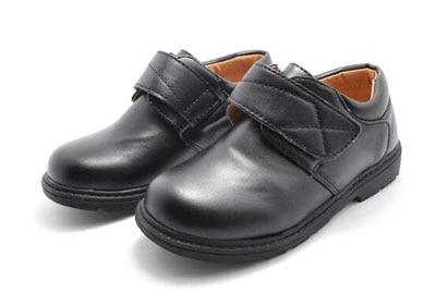 lielo zēnu apavi melnā zēna skolas kurpes formāla izpilde PU arka atbalsta ortopēdiskos neslīdošos bērnu kāzu apavus