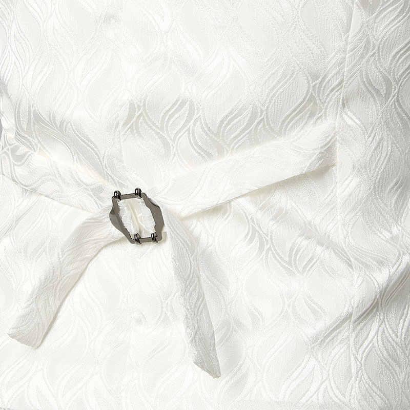 男性のヒップスター波プリントダブルブレストスーツのベスト 2018 ブランド新スリムフィットノースリーブチョッキ男性の結婚式ビジネスジレオム