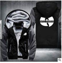 2017 New Winter Men's Hoodies Wu Tang Printed Thicken Pullover Sweatshirt Men Sportswear Fashion Clothing USA Size S-6XL