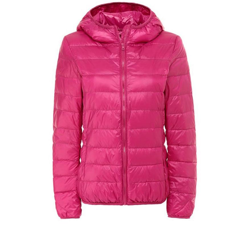 CHANGYUGE Autumn Winter Hooded Down Coat Womens Overcoat Ultra Light Female Duck Down Jacket Plus Size 5XL