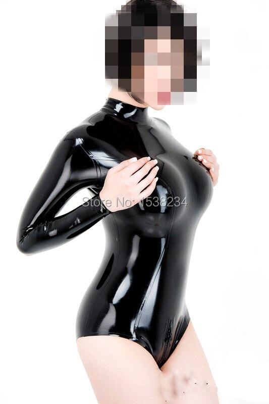 Combinaison Latex femme Latex maillot de bain Kig body dos Zip entrejambe Zip