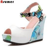 Big Size 34 43 New Fashion Women Pumps Summer Open Toe Platform Wedding Shoes Woman Sexy
